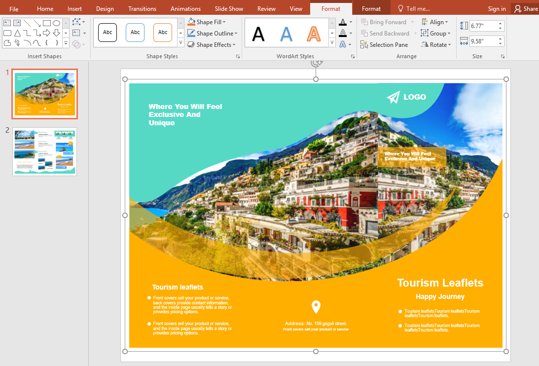 brochure in powerpoint