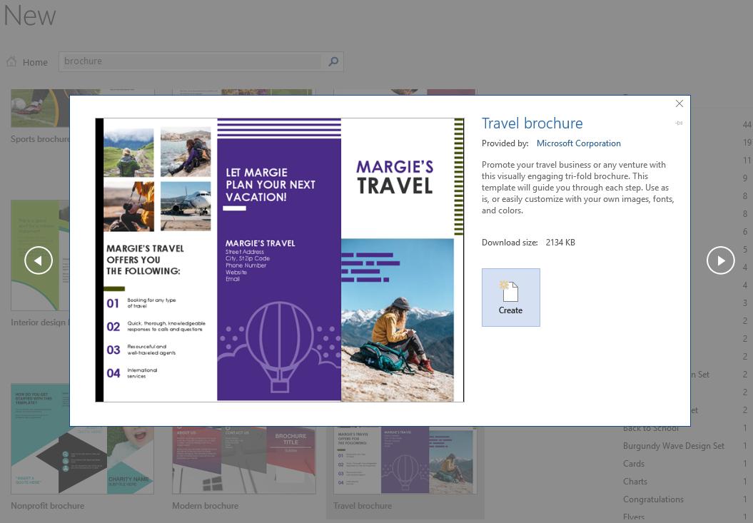 word open brochure template