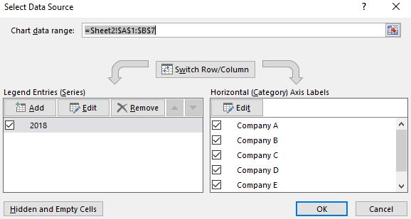 open Select Data Source window