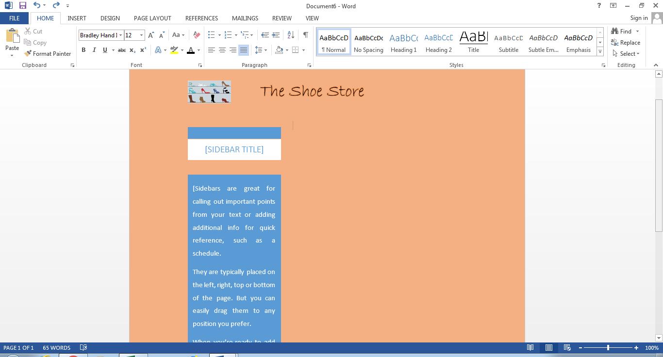 editar volante en word