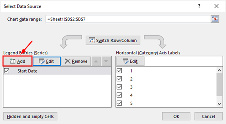 Add button on Select Data Source window