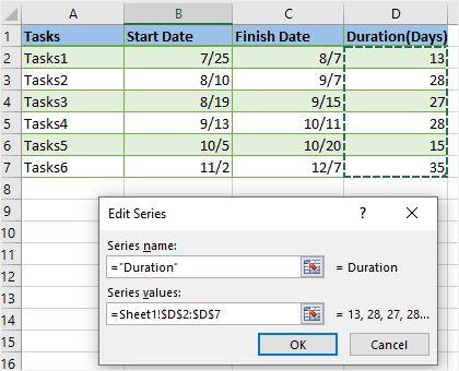 Edit Series window in Excel