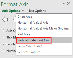choose Vertical Category Axis option