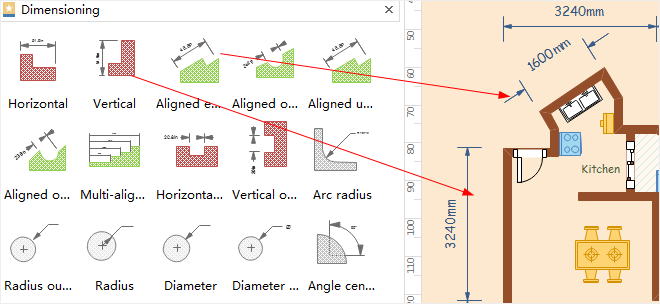 dimensioning shape