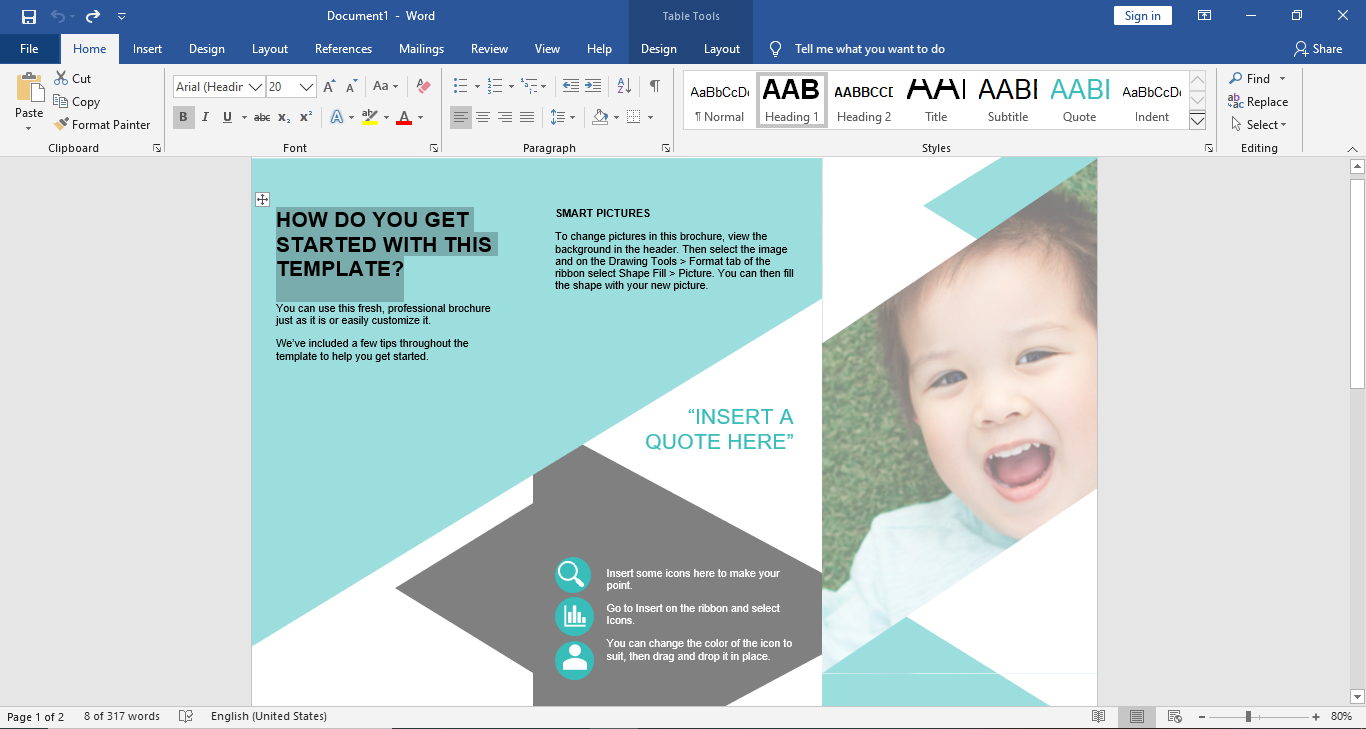 edit template word
