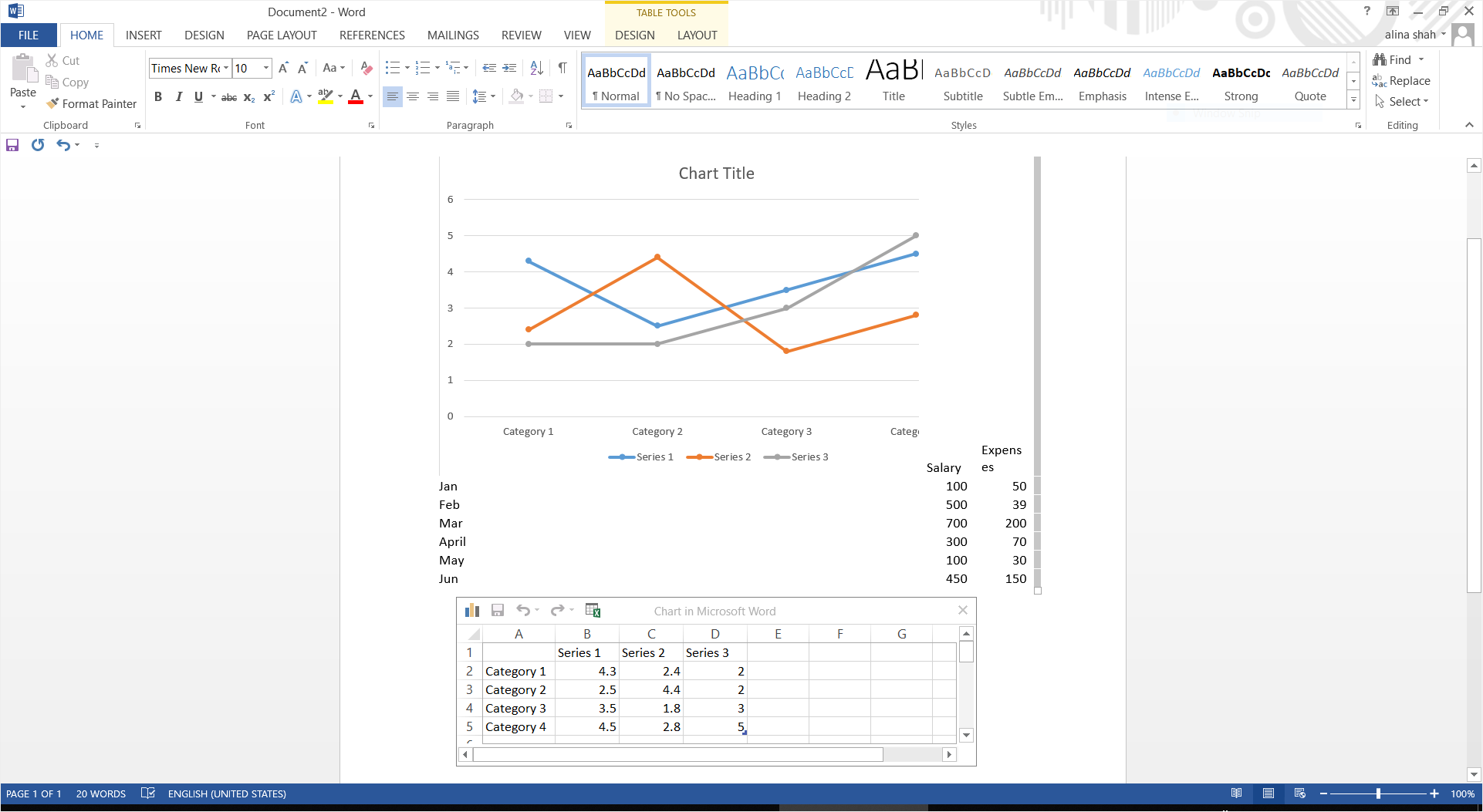How To Make A Line Graph In Word Edrawmax Online