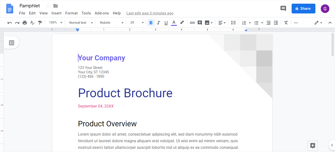 How to Make a Pamphlet on Google Docs   EdrawMax Online