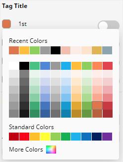 the color menu in Edraw Max