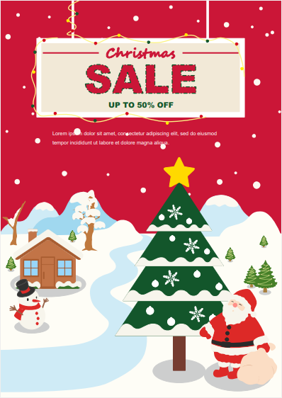 red background christmas sale