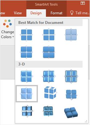 select the matrix style
