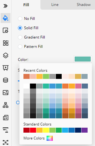 change the fill color on the Edraw Max