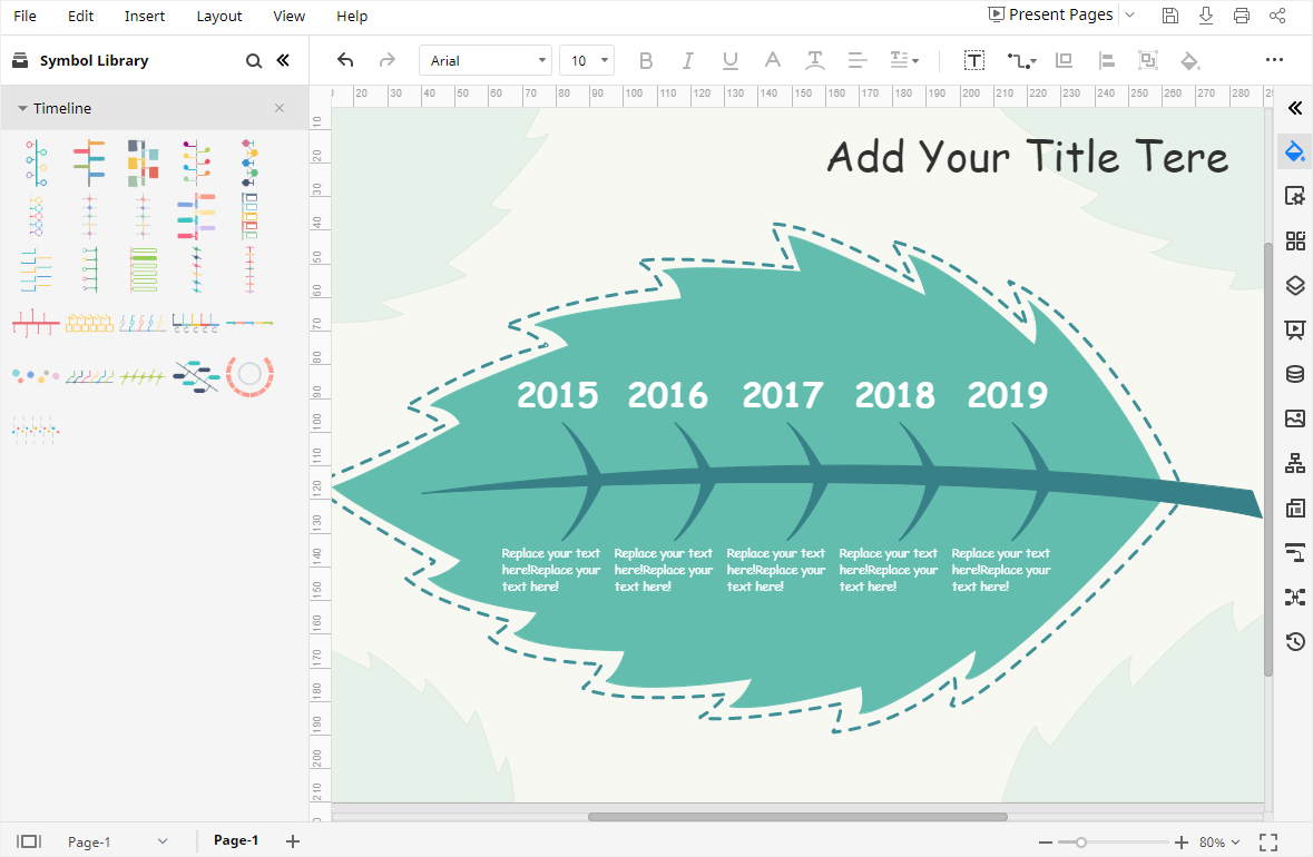 open the timeline template on EdrawMax
