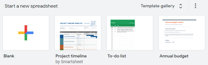 find the timeline template in Google Sheets