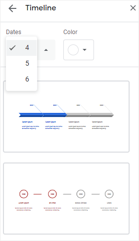 open the template pane in Google Slides