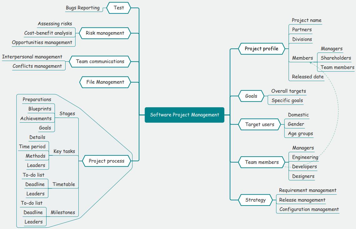software project management mind map