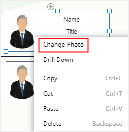 change photo option