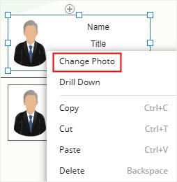 opción de cambio de foto