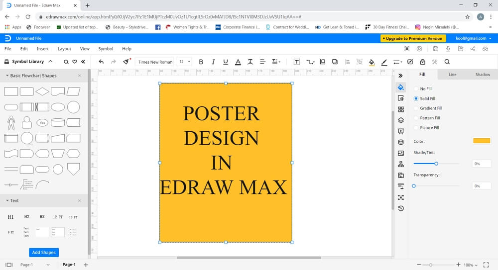 design poster in Edraw Max