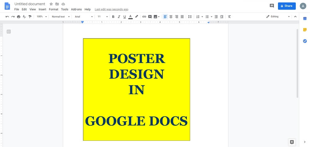 save poster in google docs