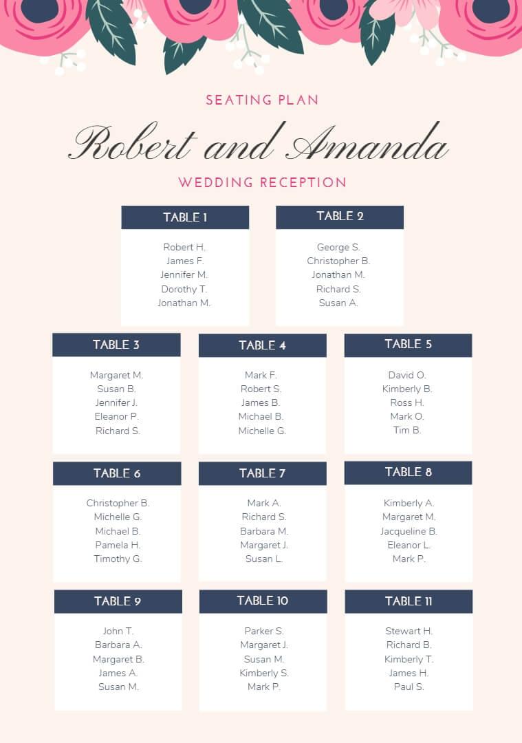 cream pink seating chart