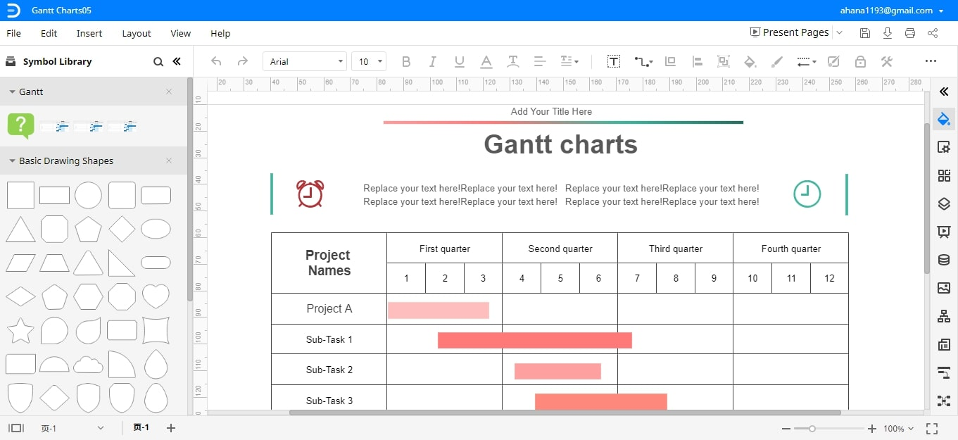 Gantt Chart with Templates