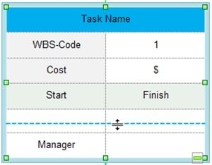 create wbs change size