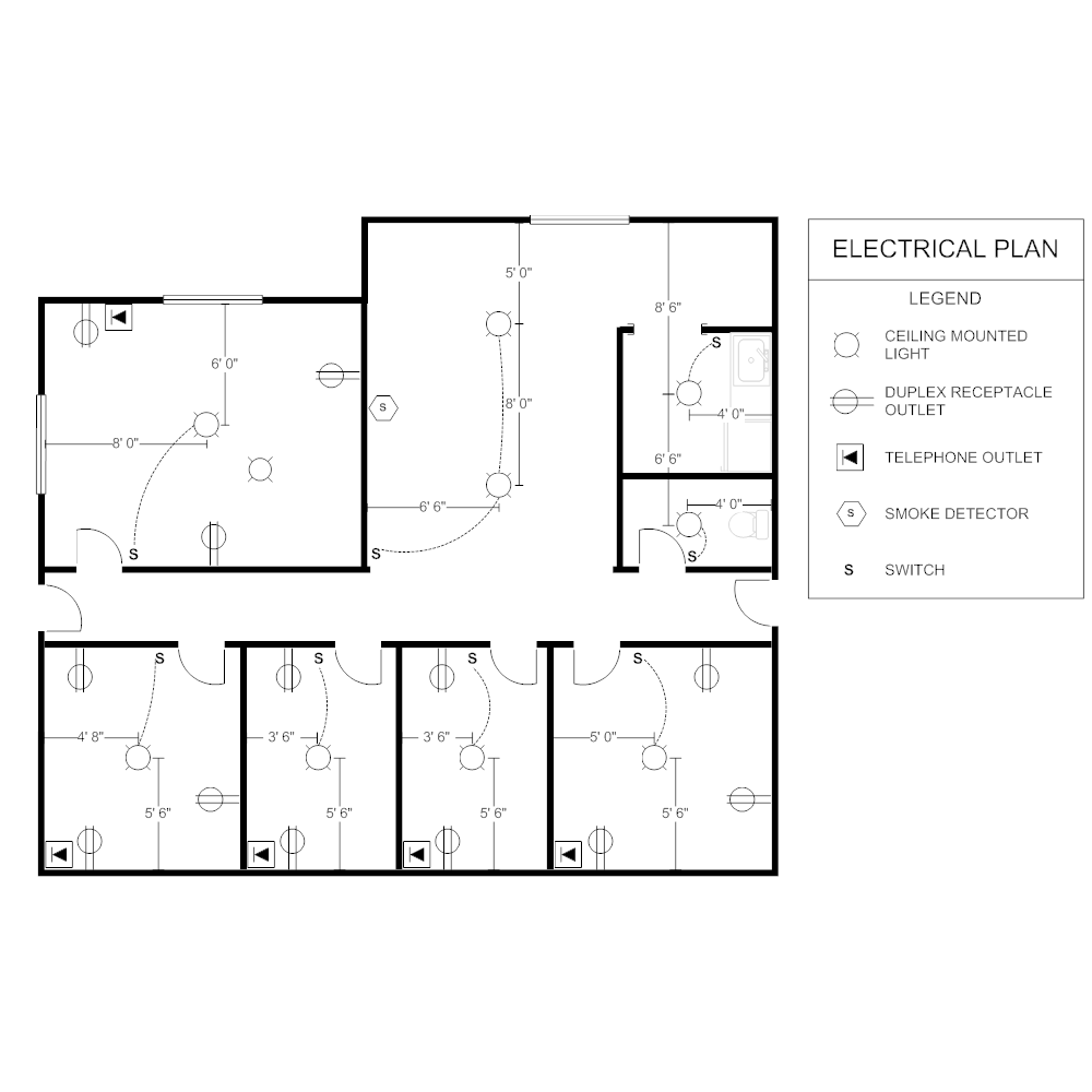 [DIAGRAM_5NL]  Electrical Plan 101: Know Basics of Electrical Plan | EdrawMax | Electrical Plan Layout |  | Edraw Max