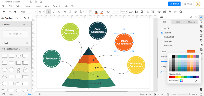 How to Create Energy Pyramid Diagram with EdrawMax Online