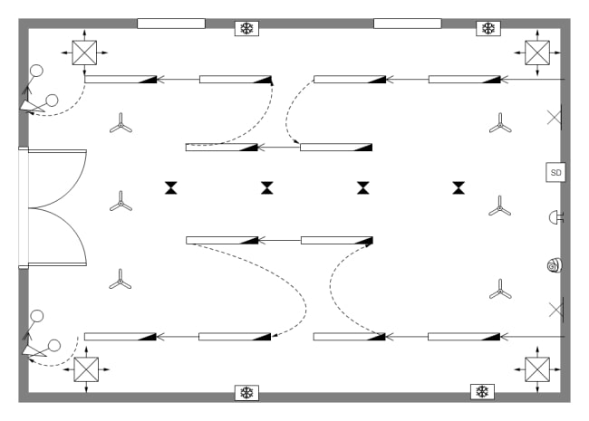 Reflected Ceiling Plan for an office conference room