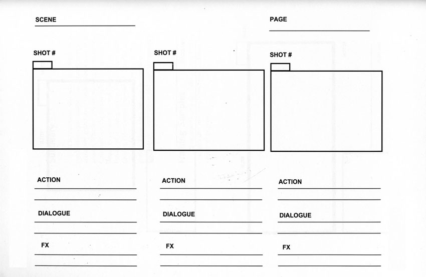 Storyboard Example for Video Creation