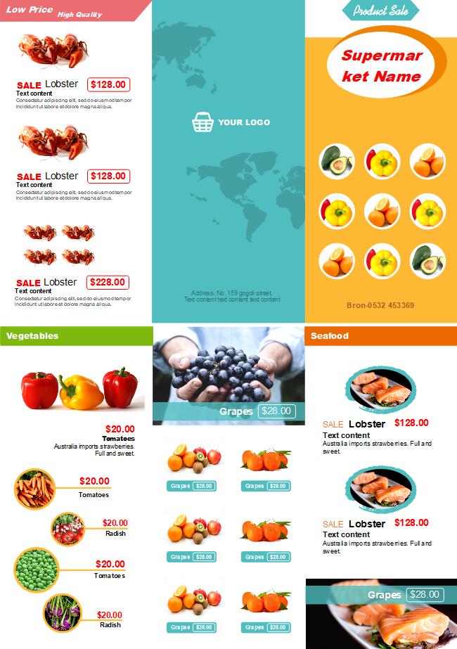 Supermarket Sales Brochure