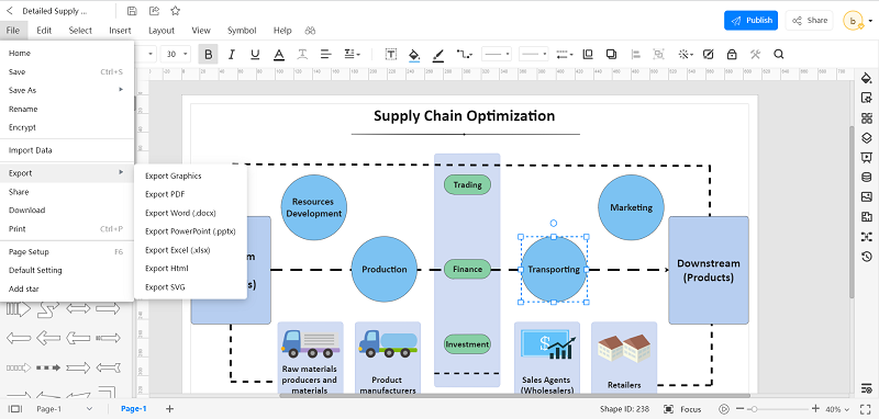 How to Create Supply Chain Diagram with EdrawMax Online