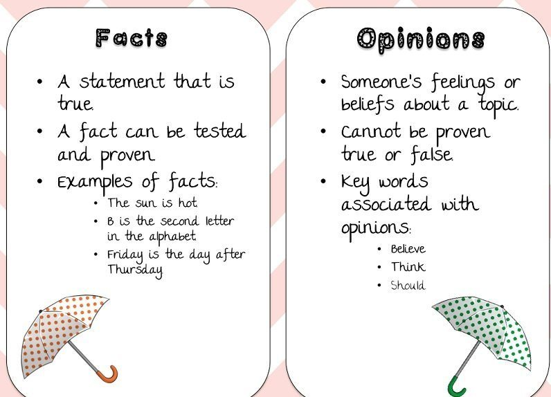 facts vs opinion