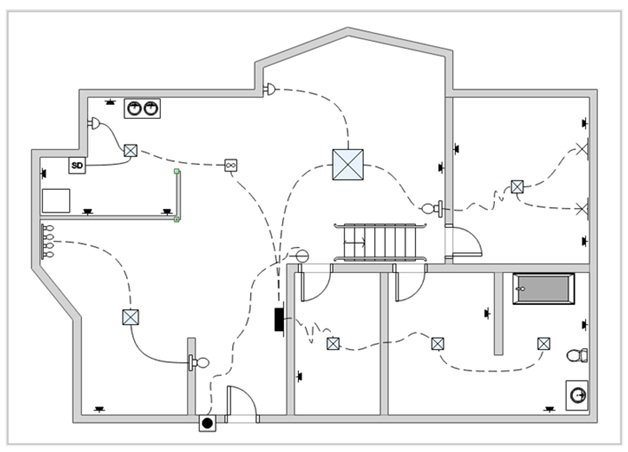 Simple Bathroom Wiring Diagram from images.edrawmax.com