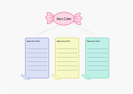 Candy Shape Graphic Organizer