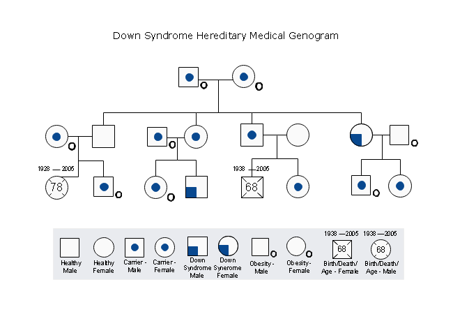 Down Syndrome Hereditary Medical Genogram