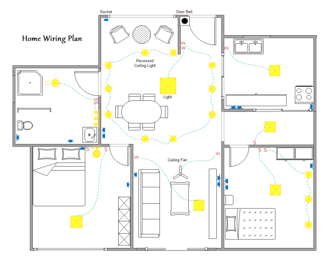 Schematic Wiring Diagram For House from images.edrawmax.com