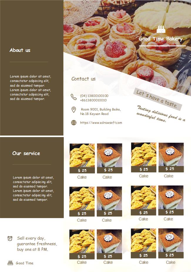 bakery shop brochure