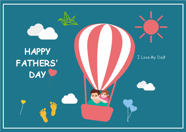 balloon fathers day card