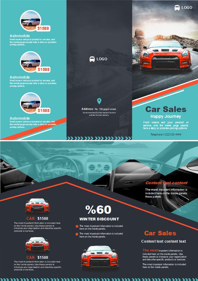 car sales brochure