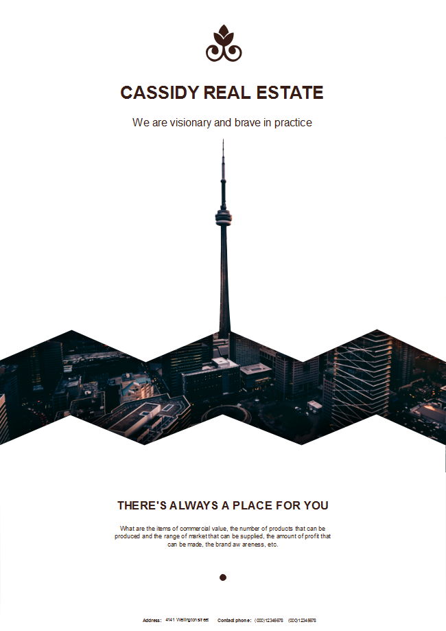 creative real estate poster