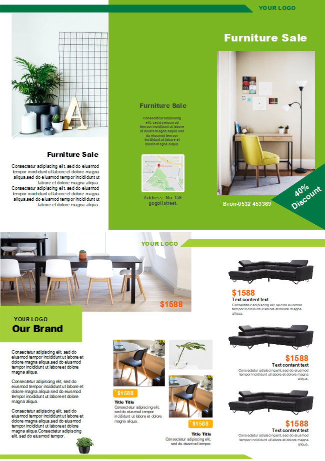 furniture sales brochure