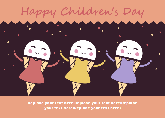 ice cream children day card