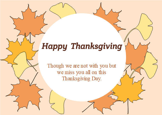 maple leaves thanksgiving card