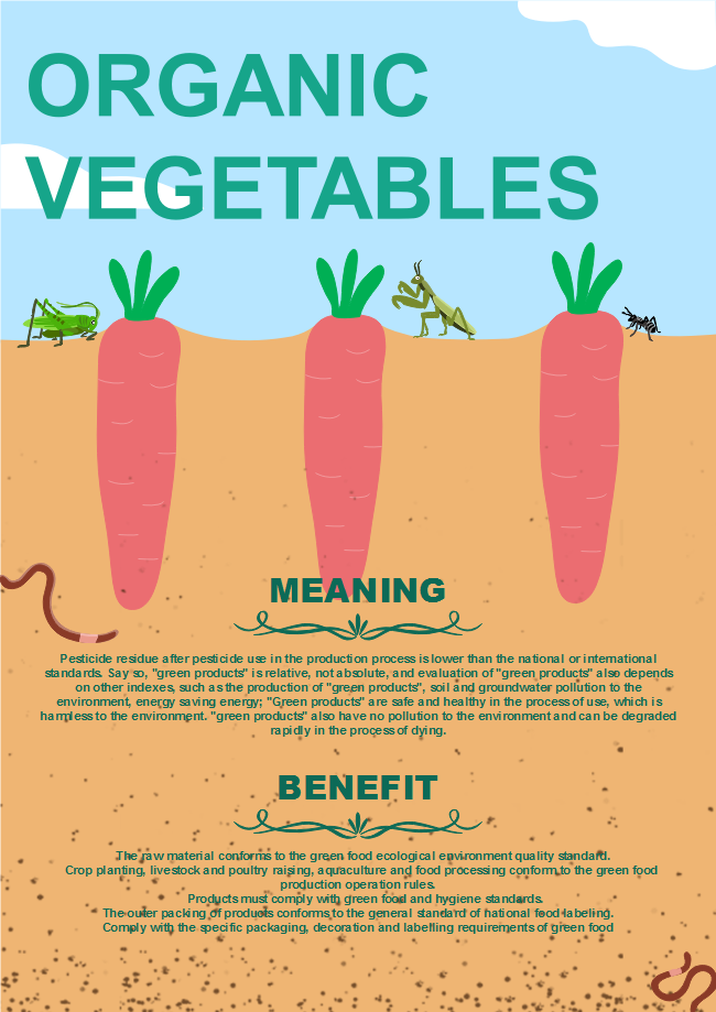 organic vegetable business poster