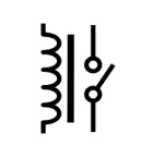 Electrical and Electronics Symbol - SPST Relay