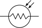 Electrical and Electronics Symbol - Photoresistor