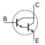Electrical and Electronics Symbol - Darlington Transistor