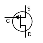 Electrical and Electronics Symbol - JFET-N Transistor
